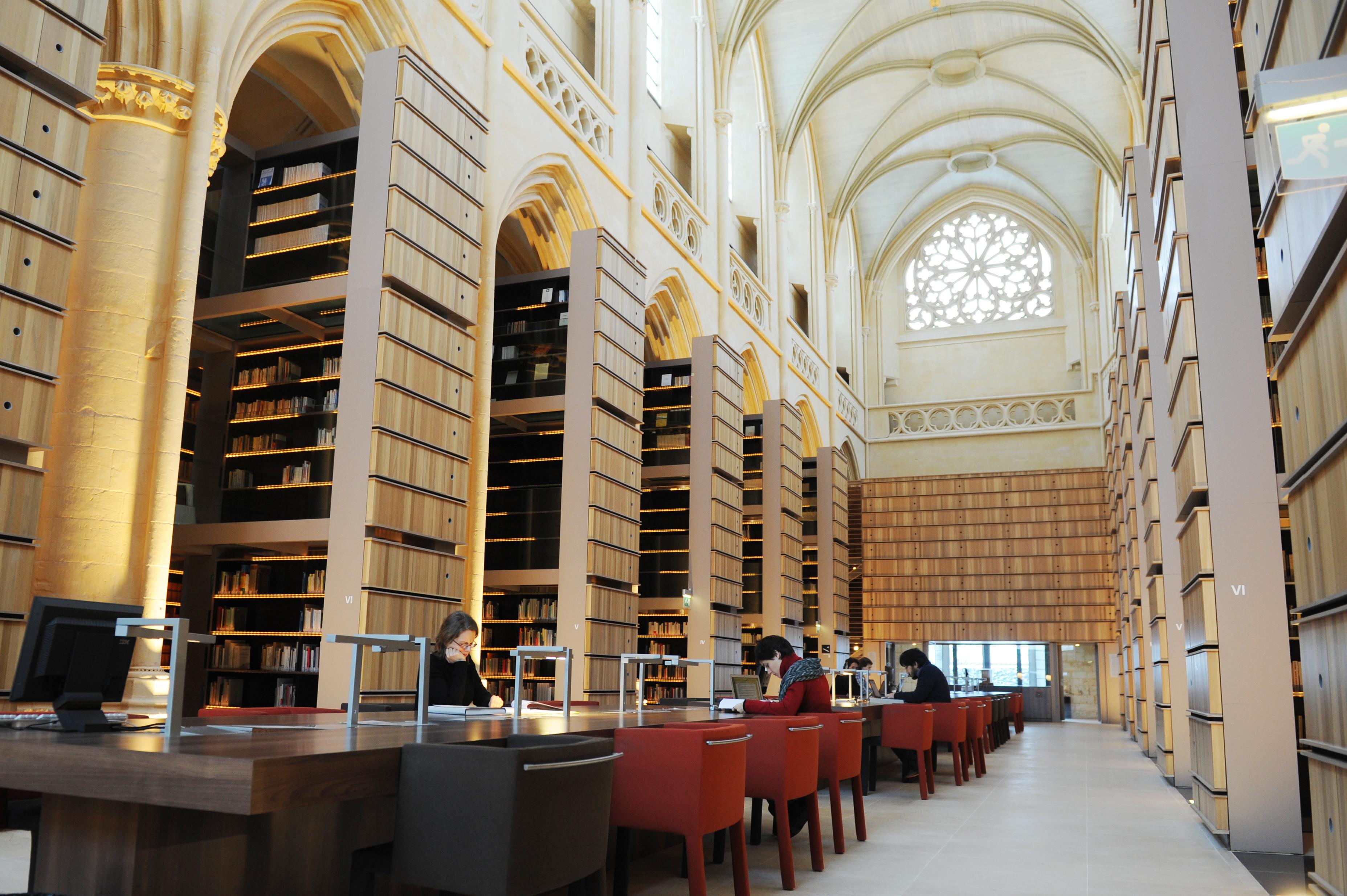 Bibliothèque de l'IMEC Abbaye d'Ardenne