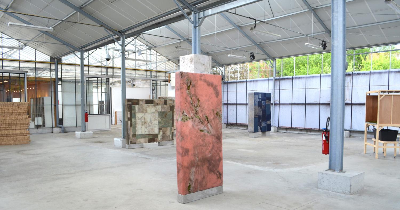 Vue d'exposition à l'Usine Utopik à Tessy-sur-Vire