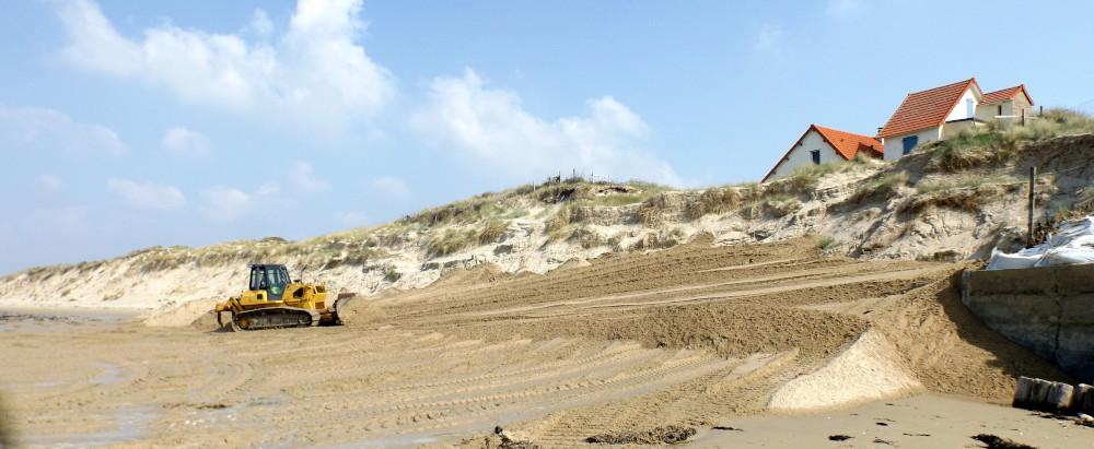 Ré-ensablage de la dune